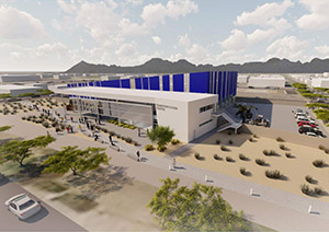 Architectural rendering of new automotive Center of Excellence at Pima Community College