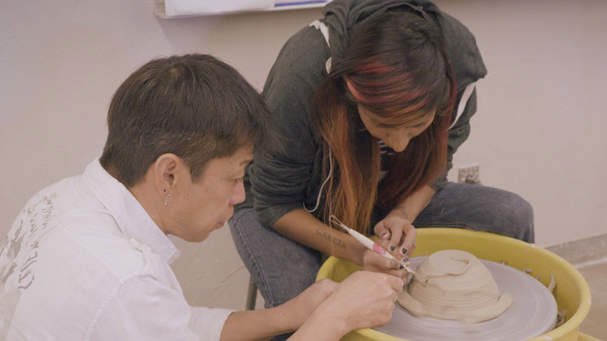 Students in PCC art class